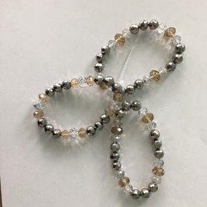 Jewelry - Women's Set Of 3 Beaded Bracelets